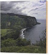 Waipio Bay Wood Print