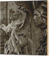 Waiting For Alexander - Heroes And Gods - Brown  Wood Print