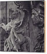 Waiting For Alexander - Heroes And Gods - Violet  Wood Print