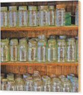 Waiting For Canning Time Wood Print