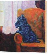 Waiting For Mom - Scottish Terrier Wood Print