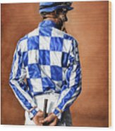 Waiting For Secretariat Wood Print by Thomas Allen Pauly