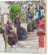 Waiting For The Karmappa Lama Wood Print