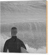 Waiting For The Perfect Wave Wood Print