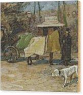 Waiting In A Car Park  Willem De Zwart  1872   1931 Wood Print