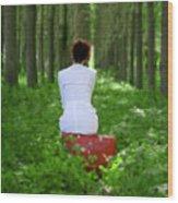 Waiting Wood Print by Joana Kruse