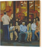 Waiting On A Taxi Wood Print