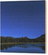 Waiting On Meteors Wood Print