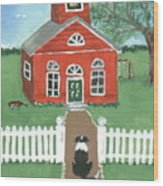 Waiting On The Bell Wood Print by Sue Ann Thornton