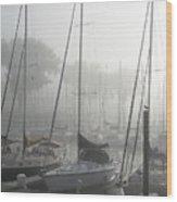 Waiting On The Fog Wood Print