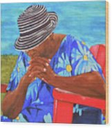 Waiting Patiently Wood Print