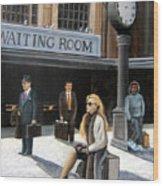 Waiting Room Wood Print