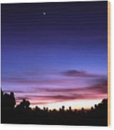 Waiting Sunrise Wood Print by Mario Bennet