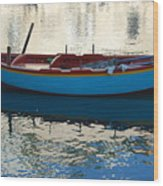 Waiting To Go Fishing Wood Print