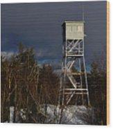 Waiting Tower Wood Print