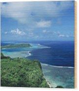 Wakaya Coastline Wood Print