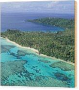 Wakaya Island Aerial Wood Print