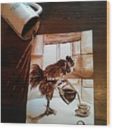 Wake Up Call Wood Print