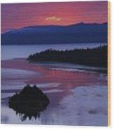 Wake Up In Lake Tahoe  Wood Print