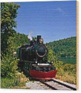 Wakefield Steam Train Wood Print