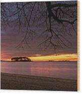 Sprite Island Sunrise Wood Print