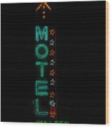 Walden Motel Las Vegas Wood Print