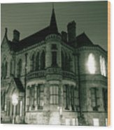 Waldorf College, The Centre For Science And Arts By Night Stround Gloucestershire Wood Print
