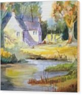 Wales Country House Wood Print