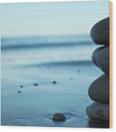 Walk Along The Beach Wood Print