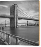 Walk Along The East River Wood Print