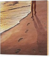 Walk Beside Me Wood Print by Cliff Hawley