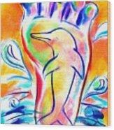 Walk Free As A Dolphin Wood Print