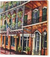 Walk In The French Quarter Wood Print