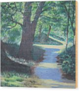 Walk In The Park Wood Print