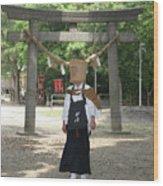 Walk In The Shrine Wood Print