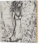 Walk In The Whispers Wood Print