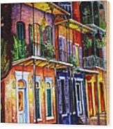 Walk Into The French Quarter Wood Print