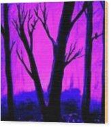 Walk Into The Light Wood Print