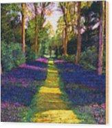 Walk Through Blue Wood Print