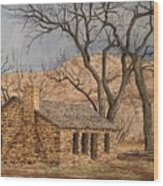 Walker Homestead In Escalante Canyon Wood Print