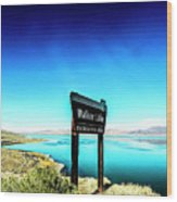 Walker Lake Wood Print