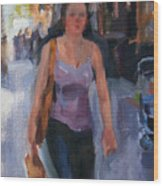 Walking Down Bleeker Street Wood Print