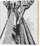 Walking Dress, 1890s Wood Print
