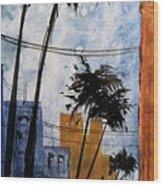 Walking Home, Watercolor Wood Print
