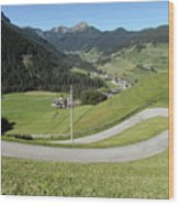 Walking Near Niederdorf In The Dolomites Wood Print