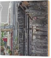 Walking Old Town Wood Print