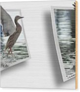 Walking On Water - Gently Cross Your Eyes And Focus On The Middle Image Wood Print