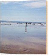 Walking On Water Wood Print by Stephanie  Varner
