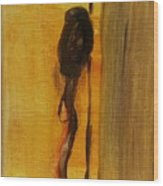 Walking Stick And Hat Wood Print