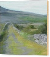 Walking the Burren Wood Print